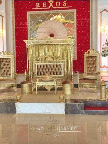 Full Gold Hint Kına Tahtı Set